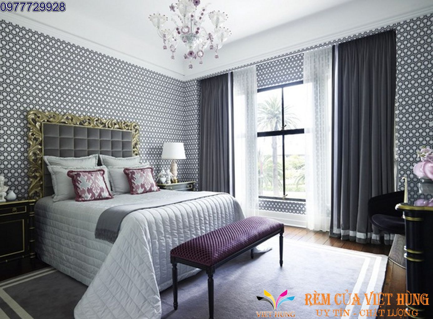 Rèm Cửa Phòng Ngủ VH 990-5