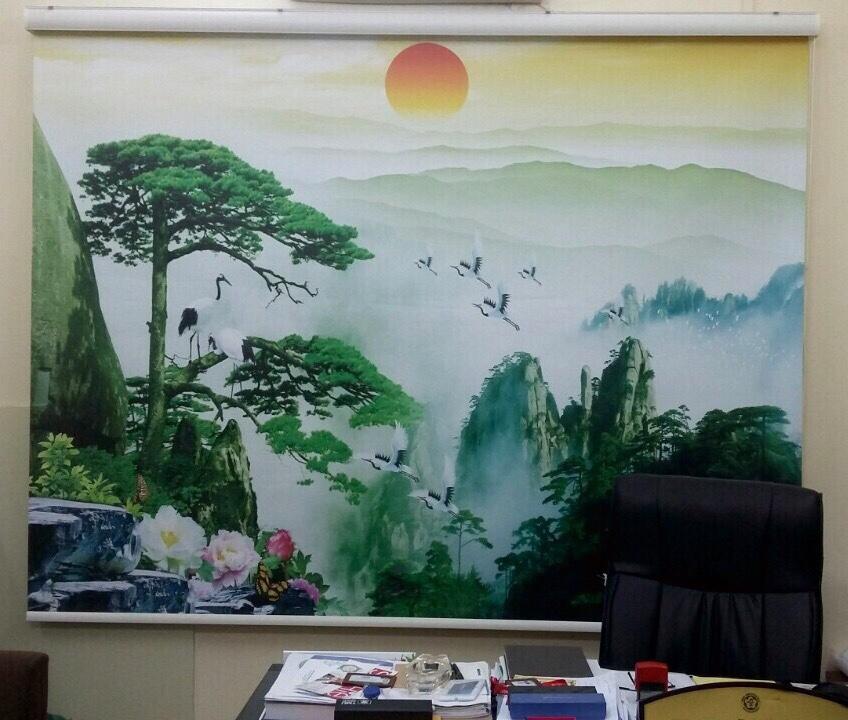 rèm cuốn tranh 1