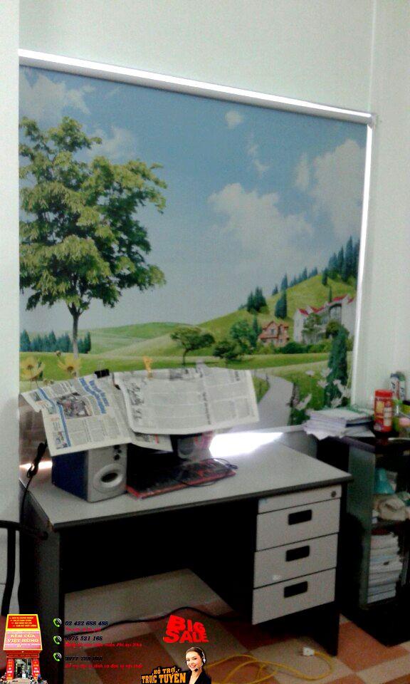 rèm cuốn tranh 4