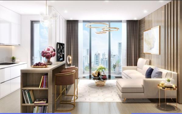 Vincity Gia Lâm căn hộ mẫu với rèm cửa đẹp