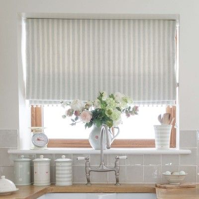 257 - Sea/Ivory Cambridge Stripe - Stripes - Fabric - Fabric & Interiors