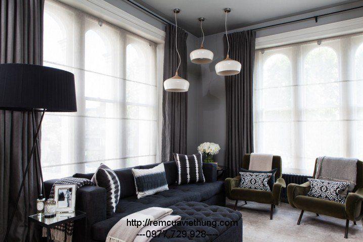 Phòng khách tươi sáng và hiện đại hơn với rèm cửa