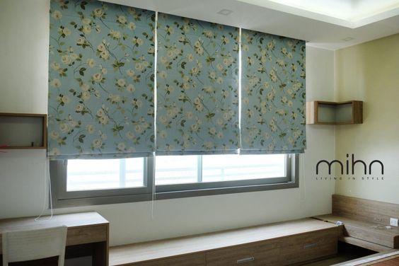Rèm vải hoa tại các công trình của Mihn HOME