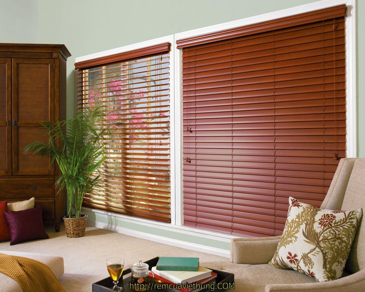Rèm gỗ đẹp cho không gian phòng khách