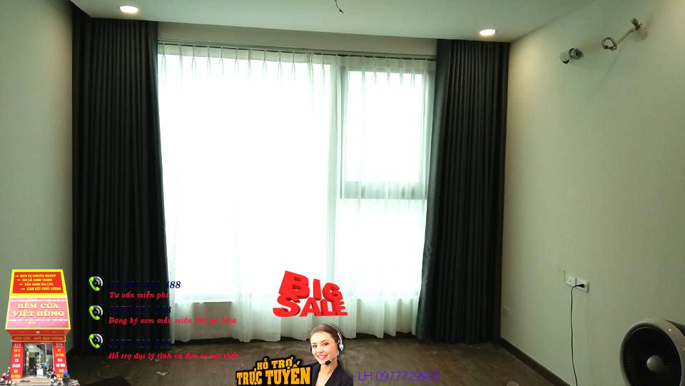 thi công rèm cửa chị Trang  chung cư xuân phương
