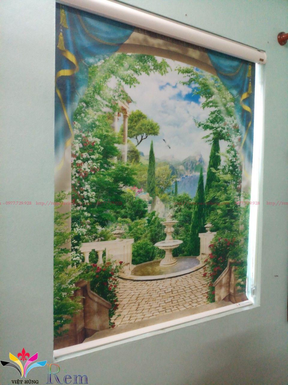 thi công rèm cuốn tranh